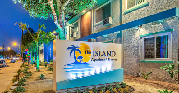 The Island Apartments signage
