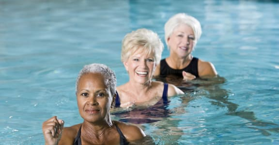 Womes At Swimming Pool at 55+ FountainGlen Laguna Niguel, Laguna Niguel