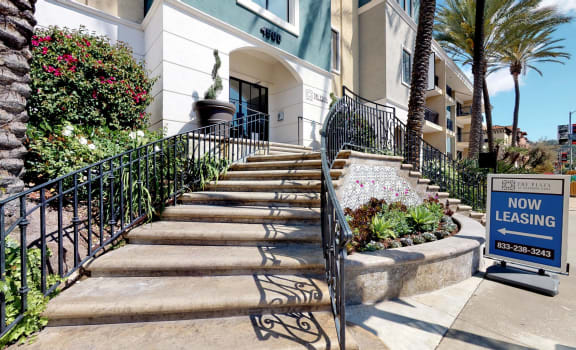 The Plaza at Sherman Oaks exterior staircase entrance