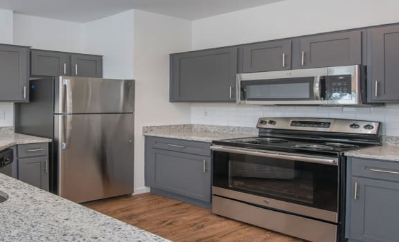 Renovated Kitchen at The Jax Apartments, Clear Property Management, San Antonio 78230