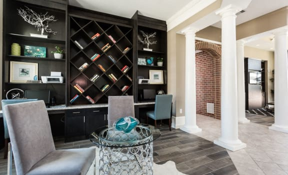 Classy Clubhouse Interiors at The Avenue at Polaris Apartments, Columbus, OH, 43240