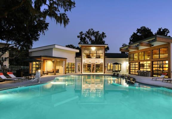 Property Front With Pool at The Ellis, Savannah, GA