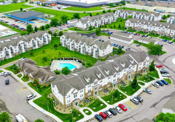 Aerial View Of The Community at Black Sand Apartment Homes, Lincoln
