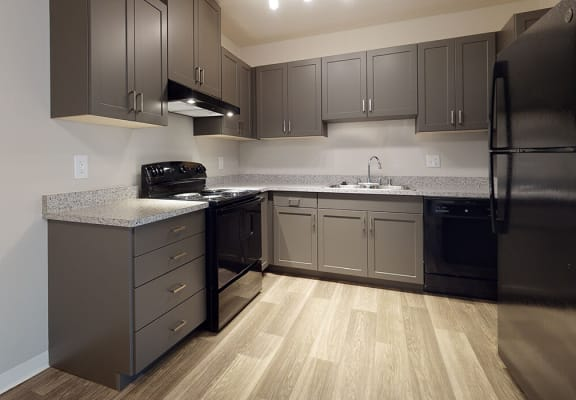 Two bedroom kitchen at Park Villas Apartments in National City