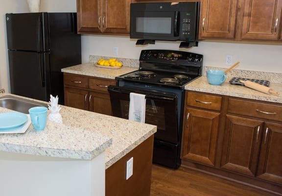 Riverwoods at Denton Model Apartment Kitchen