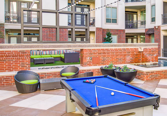 Outdoor Pool-Table at ALARA Uptown, Texas