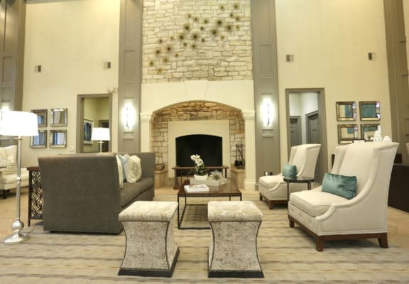 Clubhouse Interior Seating & Fireplace