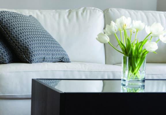 living room at Walden Glen Apartments in Buena Park, CA