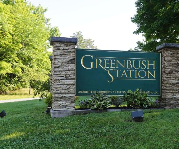 Greenbush Station Welcome Sign