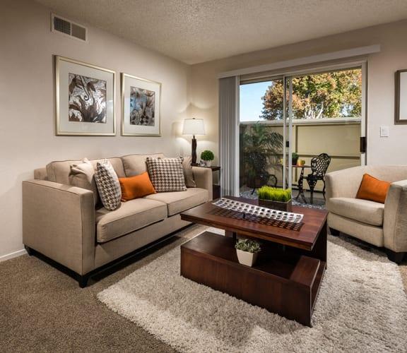 Furnished Living Room | Vine by Vintage apts in Lompoc