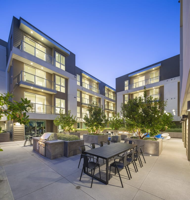 Spacious, Landscaped Patio and Private Courtyard at Concourse, California