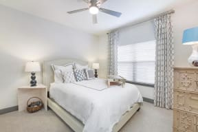 Transitional Master Carpeted Bedroom at The Gentry at Hurstbourne, Louisville, KY, 40222