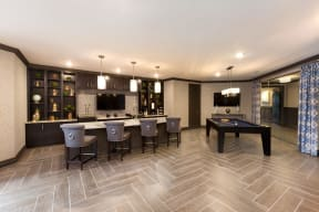 Clubhouse with Pool Table & Coffee Bar at The Gentry at Hurstbourne, Kentucky, 40222