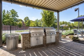 outdoor grilling space for residents