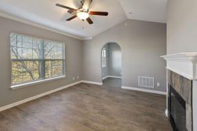 hardwood flooring living area