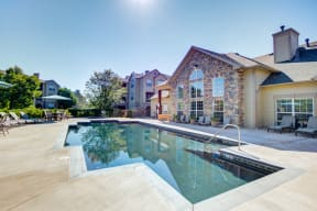 Pool in the sunshine for colorado apartment building