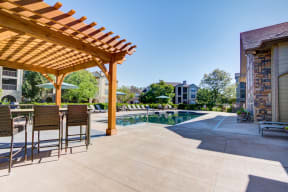 Pool Outdoor Seating area at alvista harmony