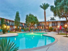 Swimming Pool with Lounge Chairs at Paradise Palms, Phoenix, AZ 85014