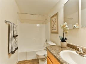 Bathroom with Luxurious Garden Tub and Marble Countertops at Paradise Palms, Arizona