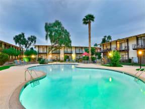 Resort-Inspired Pool and Spa at Paradise Palms, Phoenix, Arizona