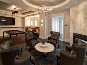 Clubroom With Smart TV at LaVie Southpark, Charlotte, NC