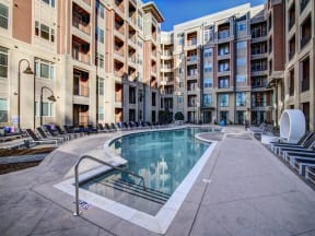 Swimming Pool With Relaxing Sundecks at LaVie Southpark, Charlotte, North Carolina
