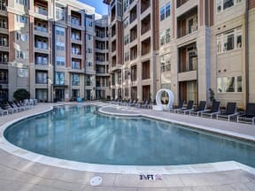 saltwater pool and sundeck at LaVie Southpark, Charlotte, NC, 28209
