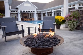 Outdoor Firepit at the Pool Sundeck