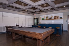 Pool Table at the Private Game Room