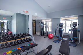 Free Weights, Cardio and Strength Training Equipment at the Fitness Center