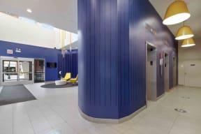 Lobby with elevators
