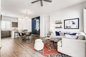 Living Room With Dining Area at Avilla Camelback Ranch, Phoenix, AZ