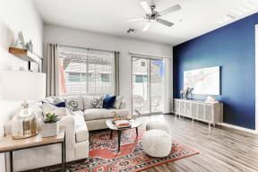 Living Room With Television  at Avilla Camelback Ranch, Phoenix, AZ