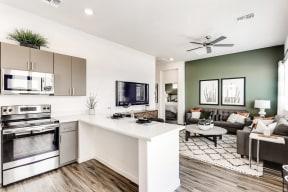 Living Room With Kitchen Viewat Avilla Camelback Ranch, Phoenix, AZ