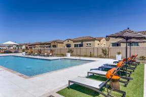 Poolside Relaxing Area at Avilla Camelback Ranch, Phoenix, 85037