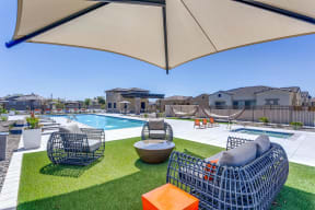 Poolside Lounge Area at Avilla Camelback Ranch, Phoenix, 85037