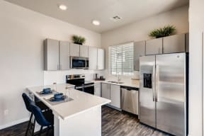 Fully Equipped Kitchen With Modern Appliances at Avilla Eastlake, Thornton, CO