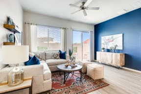 Living Room With Expansive Window at Avilla Meadows, Surprise, Arizona