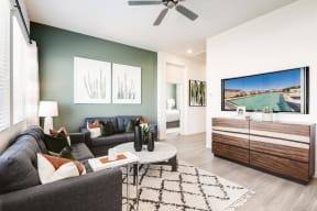 Living Room With Television at Avilla Meadows, Surprise