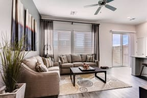Living Room With Expansive Window at Avilla Lehi Crossing, Mesa, 85213