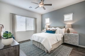 Bedroom With Expansive Windows at Avilla Lago, Peoria, AZ, 85382