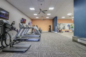 fitness center previous racquetball court treadmills cardio elliptical stair master orlando apartments