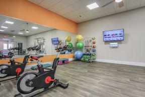 fitness center spin bikes apartment apt orlando florida for rent
