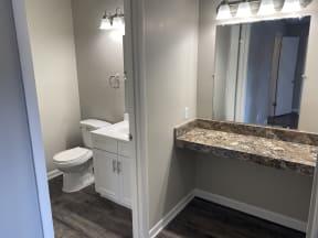 Avisa Lakes Apartments Orlando florida platinum upgrade unit with vanity area