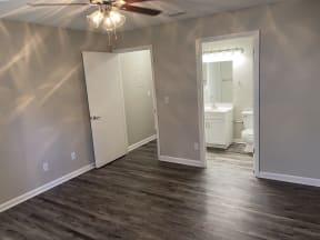 Spacious bedroom in plaqtinum upgrade unit at Avisa Lakes Orlando Florida
