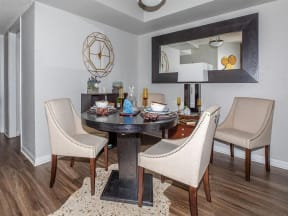 jackson square tallahassee apartments model home dining area