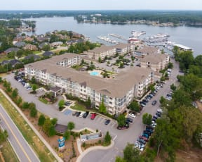 Marina Bay: Lakeside Apartment Living: Lake Murray SC: Eat Boat Live: Aerial: Lake Murray Marina