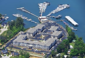 Aerial Marina Bay Lake Murray Marina