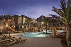 Lounge Swimming Pool With Cabana| Villas at San Dorado
