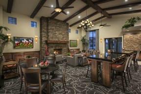 Social Lounge With Fireplace| Villas at San Dorado